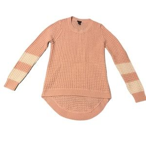 rue 21 Sweater Pink Cream Waffle Knit High Low